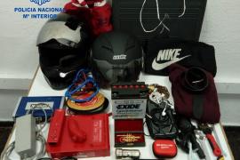 Detenido tras robar en ocho motos aparcadas en Palma