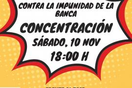 Concentración este sábado en Palma contra «la banca y la decisión del Supremo»