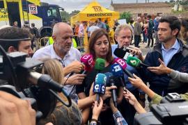 Armengol visita las zonas de Sant Llorenç más afectadas por las inundaciones