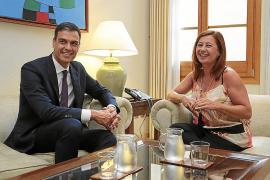 Armengol se reúne la semana que viene con Sánchez para hablar de REB y financiación