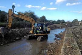 Arrancan las obras en los torrentes del Llevant de Mallorca cuando se cumple un mes de la tragedia