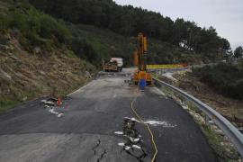 La carretera de Andratx a Estellencs, dos meses cerrada