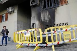 Detenido un hombre que estaba junto a un contenedor que se incendió en Palma