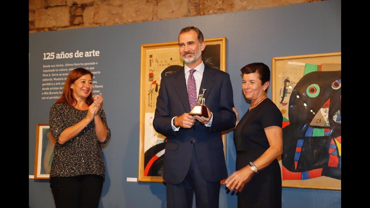 El Rey alaba el vínculo de Ultima Hora con Mallorca en el 125 aniversario del diario