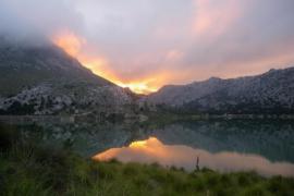 puesta de sol desde Cúber
