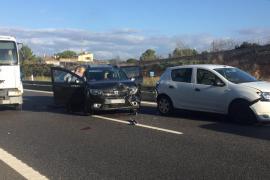 Retenciones en la autopista de Llucmajor tras un aparatoso accidente