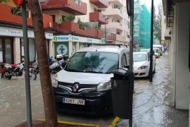 Las fuertes lluvias registradas en Ibiza, en imágenes (Fotos: Daniel Espinosa).
