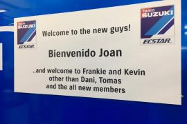 Suzuki da la bienvenida a Joan Mir y su equipo a MotoGP