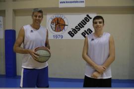 Pau Giménez cumple el sueño de jugar con su hijo en el Bàsquet Pla