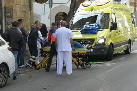 Un taxi atropella a una joven en un paso de peatones de La Rambla de Palma