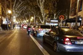 Cortes de tráfico en Palma por el encendido de las luces de Navidad