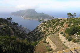 Vista de la Trapa y la isla Dragonera...