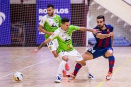 El Palma Futsal topa con los palos y empata ante el Levante (2-2)