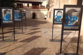 Atacan la exposición 'Presos políticos' en Son Sardina