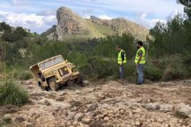 El GOB denuncia un «destrozo intolerable» de caminos por parte de vehículos militares