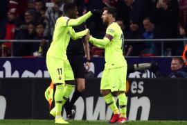 Dembelé permite al Barça empatar ante el Atlético de Madrid