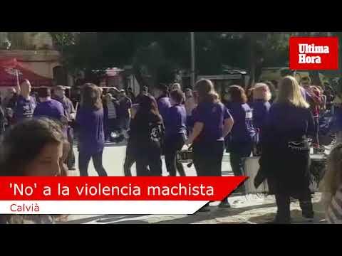 Medio millar de personas 'marchan' en Andratx contra la violencia machista