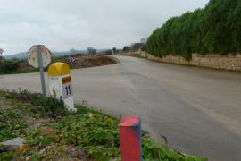 Herido grave un motorista de 60 años en la carretera de Porreres a Llucmajor