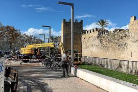 Comienza la reparación de un tramo de la muralla de Alcúdia