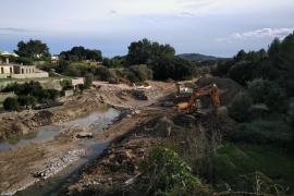 Avanzan los trabajos para instalar el puente militar en Artà