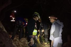 Rescate de un escalador que ha caído desde tres metros en sa Gubia