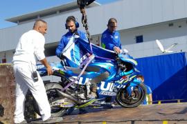 Joan Mir da el susto en los test de MotoGP de Jerez