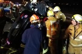 Un accidente en la autopista de Inca se salda con seis heridos