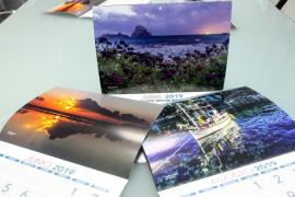Grupo Prensa Pitiusa dedica el calendario 2019 al medio ambiente