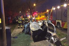 Muere un joven tras chocar su coche contra un árbol en Madrid