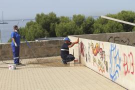 El PP propone sancionar con 3.000 euros a los autores de «pintadas vandálicas» en Palma