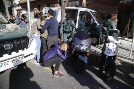 Tensión en el traslado de los detenidos en un operativo contra robos en Mallorca