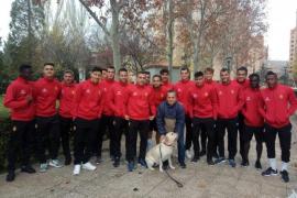 Eduardo Guadilla, el solitario aficionado del Real Mallorca en el Nuevo Zorrilla