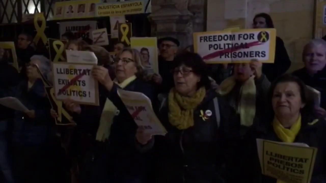 La OCB realiza en Palma una jornada de solidaridad con los 'presos políticos' y 'exiliados'