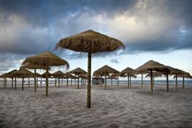Playa en invierno (Playa de Palma)