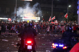 Disturbios e incidentes marcan las celebraciones de los hinchas de River Plate