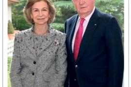 Don Juan Carlos y doña Sofía sorprenden en una felicitación navideña juntos
