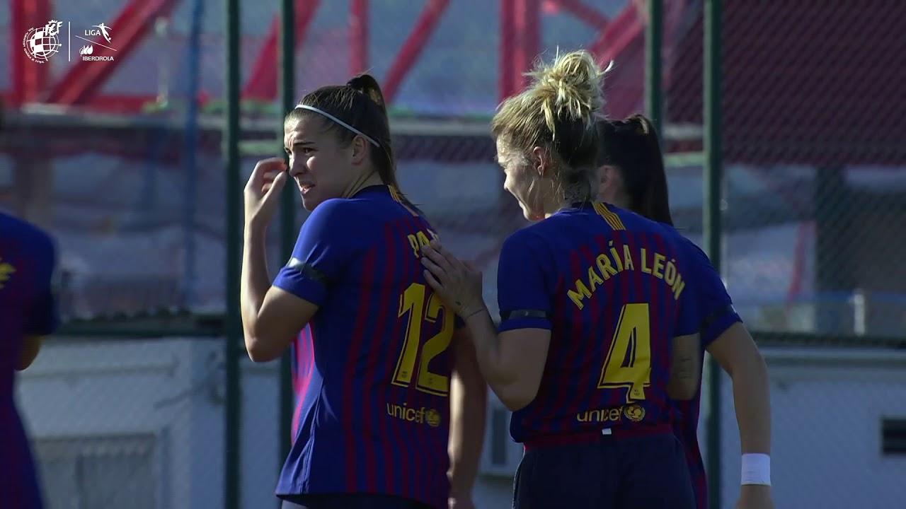 Patri Guijarro, autora del gol de la jornada en la Primera División femenina