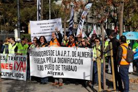 Manifestación de protesta en Madrid de examinadores de tráfico
