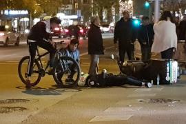 Un repartidor de comida rápida, herido tras un accidente en Palma