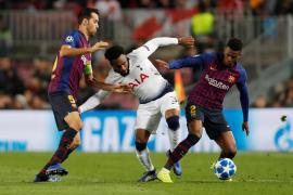 Lucas Moura clasifica al Tottenham para octavos a 5 minutos del final al empatar con el Barcelona