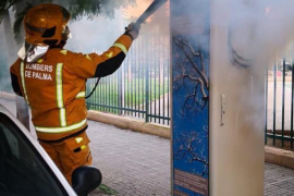 Incendio en una torre de control de consumo del alumbrado público