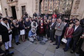 'Piedras de la memoria' en la Plaza de Cort dedicadas a Emili Darder y Jaume Garcies Obrador