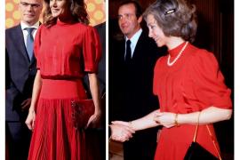 La Reina Letizia se pone un vestido de Doña Sofía