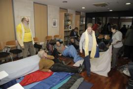 Los Jubilats per Mallorca cumplieron las 24 horas de ayuno en un ambiente solidario