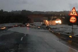 Segunda fase de las obras en las carreteras de Sant Llorenç afectadas por las inundaciones