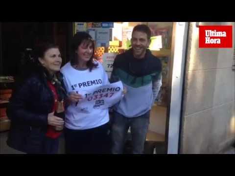 Agraciado con el Gordo en Palma: «El premio es compartido con gente muy querida»