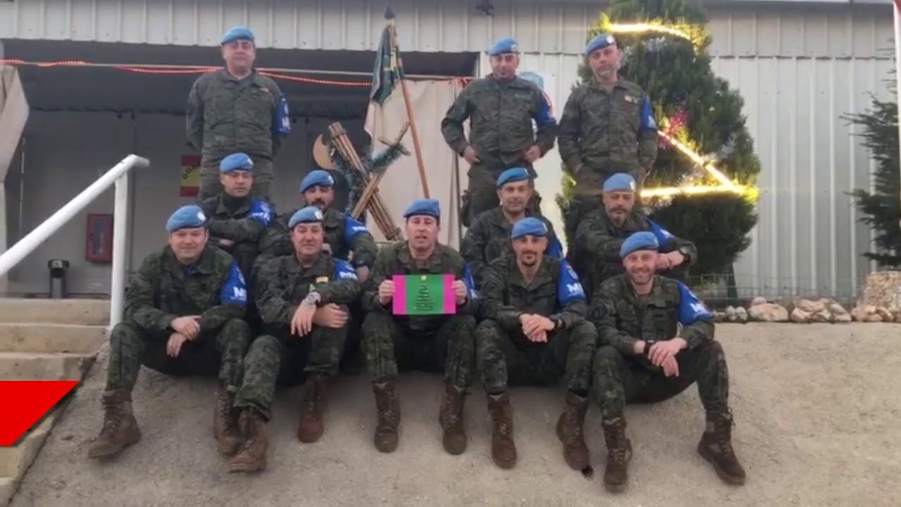 Guardia civiles mallorquines en Líbano felicitan la Navidad