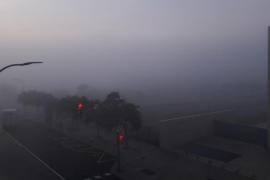 Palma amanece bajo un manto de niebla pasajera