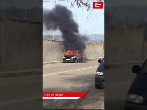 Arde un coche en Son Ferriol