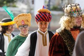 La representación del tradicional belén viviente en Sant Josep, en imágenes .